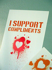 I support compliments