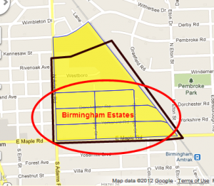 Birmingham Estate Map